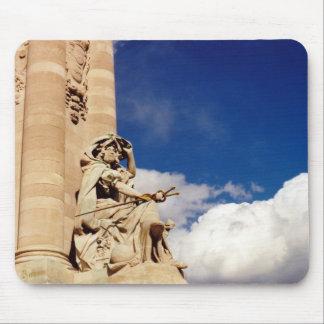 Statue on a bridge across the Seine Mousepad