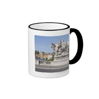 Statue on Ponte Vittorio Emanuele II, Rome, Coffee Mug