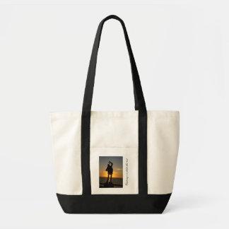 Statue Silhouette; Customizable Tote Bag
