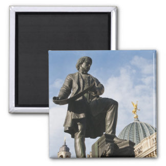 Statue with Glass dome on Kunstverein building 2 Inch Square Magnet