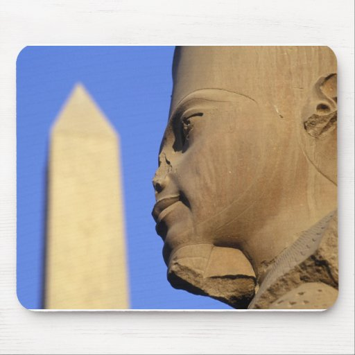 Statue with Obelisk, Karnak Temple (Egypt) Mouse Pad