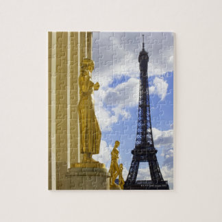 Statues and Eiffel Tower Jigsaw Puzzle