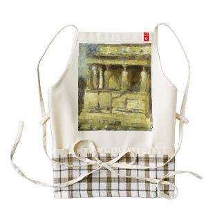 Statues at the Acropolis in Athens Zazzle HEART Apron