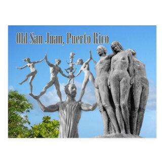 Statues in Old San Juan, San Juan, Puerto Rico Postcard