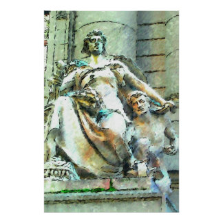 Statues of Bowling Green Poster