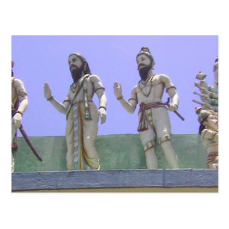 Statues of devotees postcard