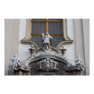 Statues of Faith Hope and Love Print