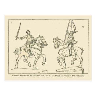 Statues of Jeanne d'Arc, Joan of Arc Postcard