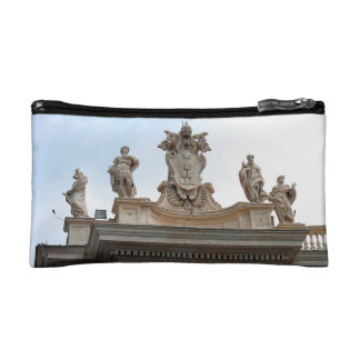 Statues on St Peter's Square in the Vatican City Cosmetic Bag