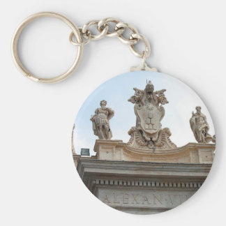 Statues on St Peter's Square in the Vatican City Keychain