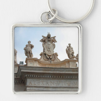 Statues on St Peter's Square in the Vatican City Key Chains