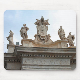 Statues on St Peter's Square in the Vatican City Mouse Pad