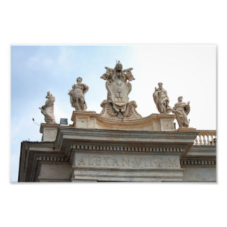 Statues on St Peter's Square in the Vatican City Photograph