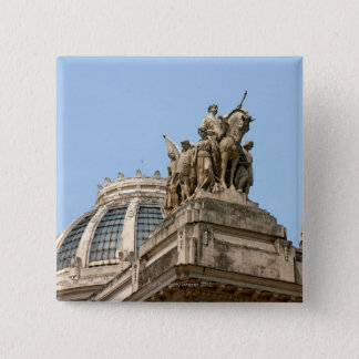 Statues on Tiradentes Pinback Button