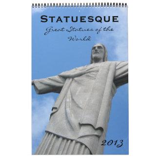 statuesque calendar 2013