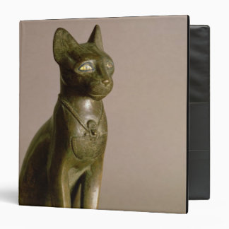 Statuette of a cat representing the goddess Bastet 3 Ring Binder