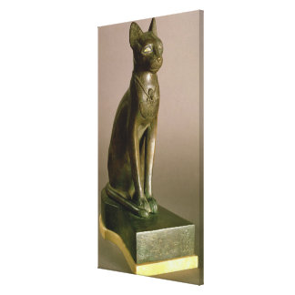 Statuette of a cat representing the goddess Bastet Canvas Print