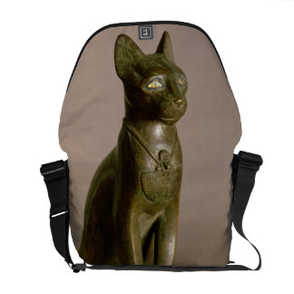 Statuette of a cat representing the goddess Bastet Courier Bag