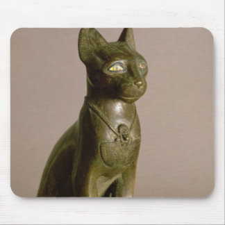 Statuette of a cat representing the goddess Bastet Mouse Pad