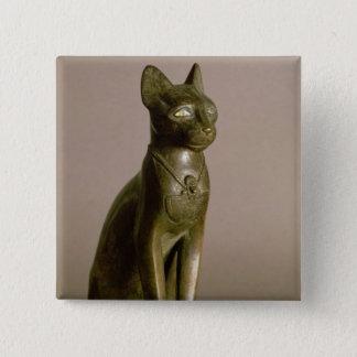 Statuette of a cat representing the goddess Bastet Pinback Button