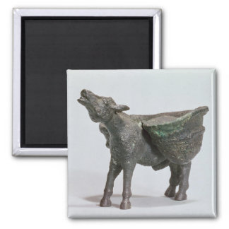 Statuette of a donkey braying, Roman 2 Inch Square Magnet