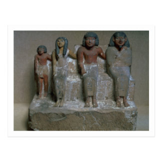 Statuette of a family group (pigment on chalk) postcard