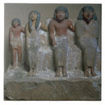 Statuette of a family group (pigment on chalk) tiles