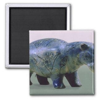 Statuette of a hippopotamus magnet