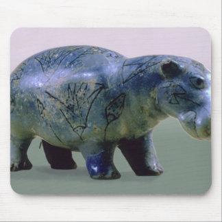 Statuette of a hippopotamus mouse pad