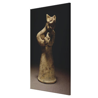 Statuette of a Lion-Headed Demon, Mesopotamia, c.5 Canvas Print
