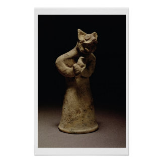 Statuette of a Lion-Headed Demon, Mesopotamia, c.5 Poster