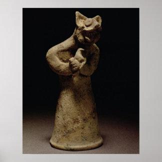 Statuette of a Lion-Headed Demon, Mesopotamia, c.5 Poster