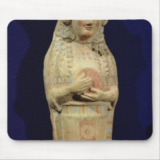 Statuette of a musician mouse pad
