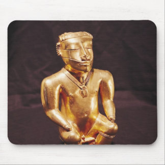 Statuette of a seated man, Quimbaya Mouse Pad