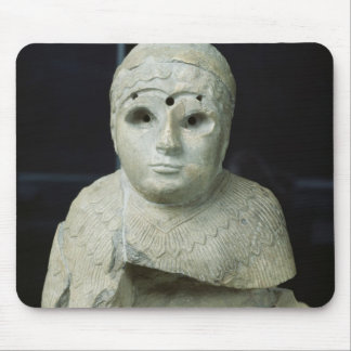 Statuette of a woman with shawl, Akkadian Period Mouse Pad