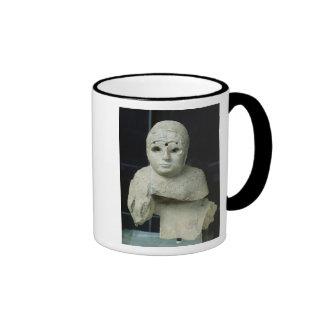 Statuette of a woman with shawl, Akkadian Period Coffee Mugs