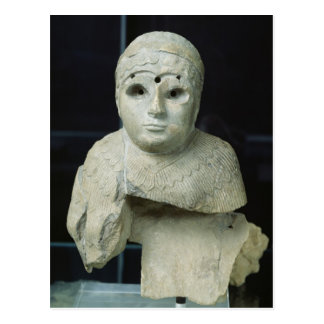 Statuette of a woman with shawl, Akkadian Period Postcard