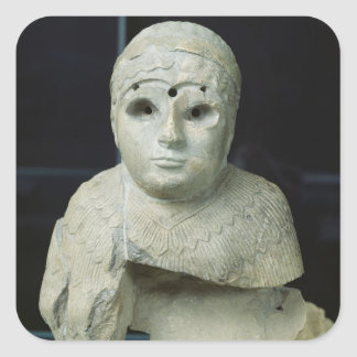 Statuette of a woman with shawl, Akkadian Period Square Sticker