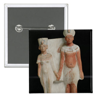 Statuette of Amenophis IV and Nefertiti Pinback Buttons