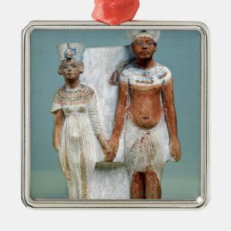 Statuette of Amenophis IV  and Nefertiti Metal Ornament