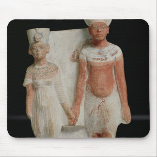 Statuette of Amenophis IV  and Nefertiti Mouse Pad
