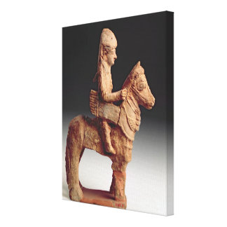 Statuette of an armed horseman, Byblos, 8th-6th ce Canvas Prints