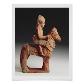Statuette of an armed horseman, Byblos, 8th-6th ce Print
