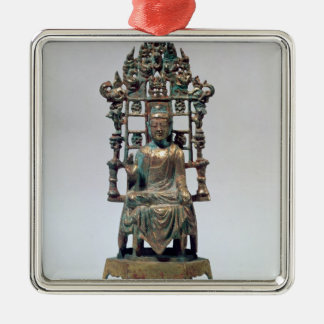 Statuette of Buddha in meditation, Tang Metal Ornament