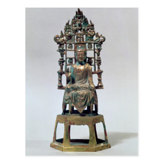 Statuette of Buddha in meditation, Tang Postcard
