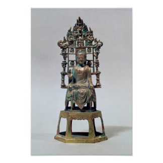 Statuette of Buddha in meditation, Tang Poster