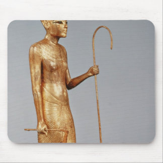 Statuette of king wearing the red crown of mouse pad