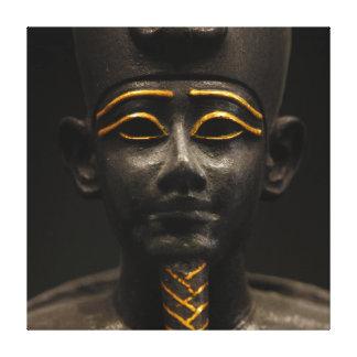 Statuette of Late Period Egyptian God Osiris Canvas Print
