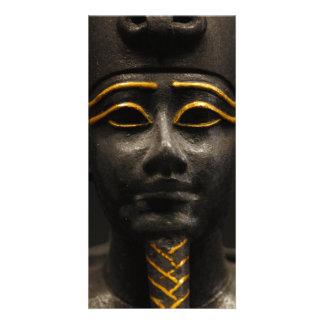 Statuette of Late Period Egyptian God Osiris Card
