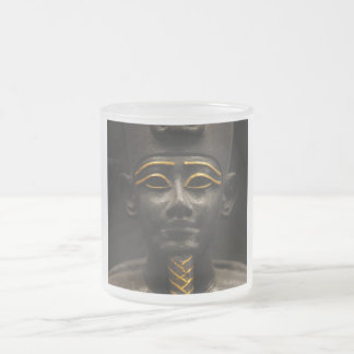 Statuette of Late Period Egyptian God Osiris Frosted Glass Coffee Mug